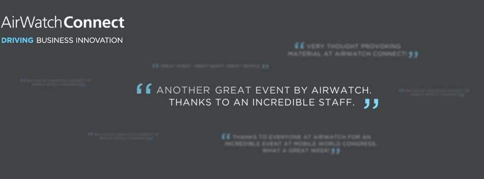AirWatch Connect Dubai 2015 - EMW